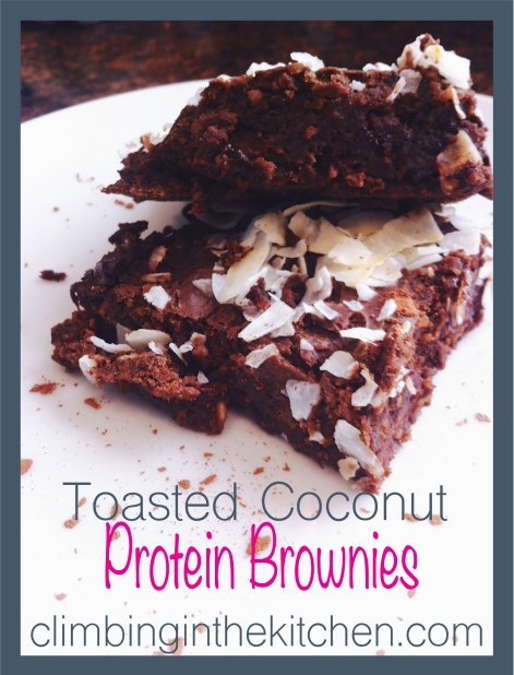 Coconut-Protein-Brownies