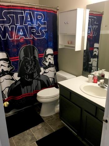 Bathroom Makeover Under 300 star wars tiny bathroom makeover for kids under 300